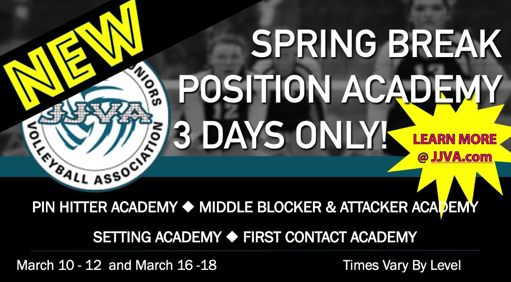 JJVA Spring Break Positional Training Academy