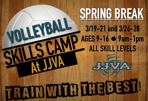 Jacksonville Junior Volleyball Association Volleyball Skills Camp