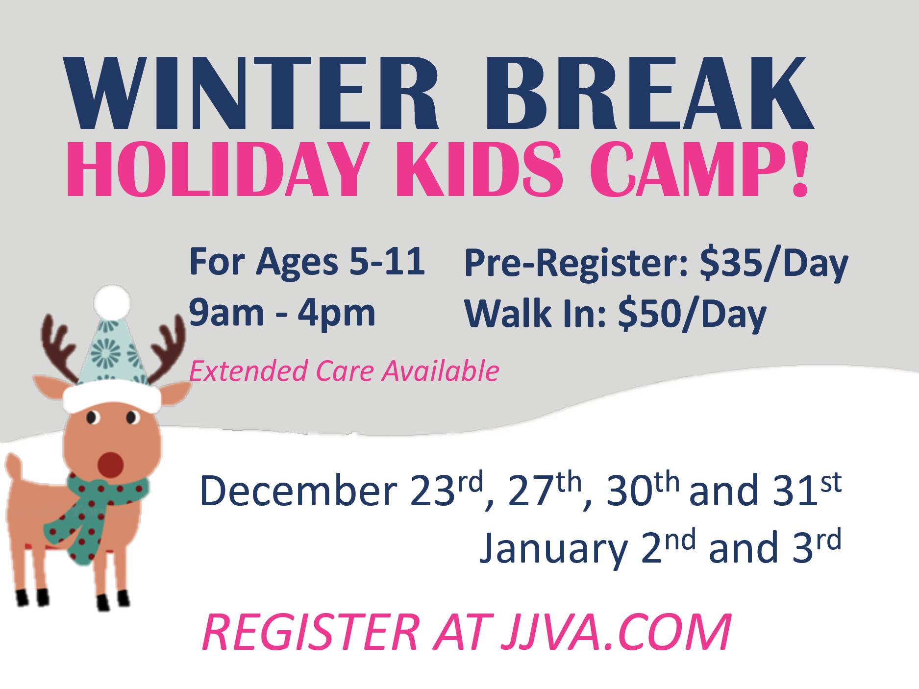 JJVA Winter Break Kidz Camp