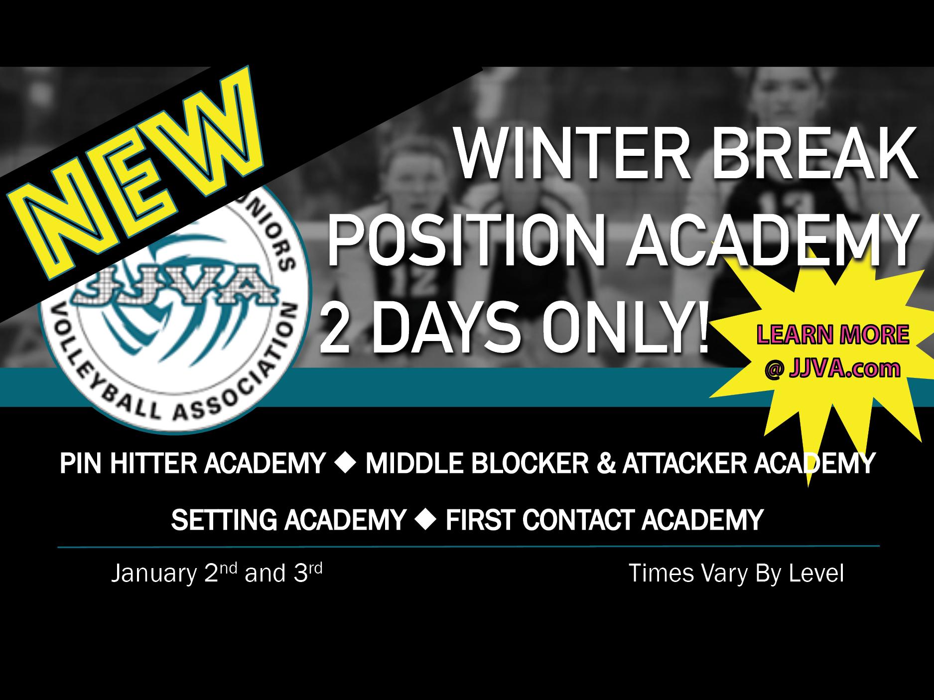 JJVA Winter Break Positional Volleyball Academy